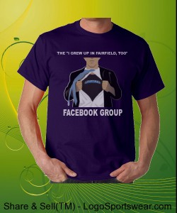 I GREW UP IN FAIRFIELD TOO FACEBOOK GROUP SUPER SHIRT--PURPLE Design Zoom